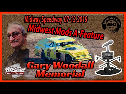 S03➜E341 Gary Woodall Memorial - Midwest Modifieds A- Main - Lebanon Midway Speedway 07-12-2019