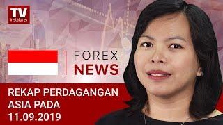 InstaForex tv news: 11.09.2019: Investor Waspada terhadap USD (USDX, USD/JPY, AUD/USD)
