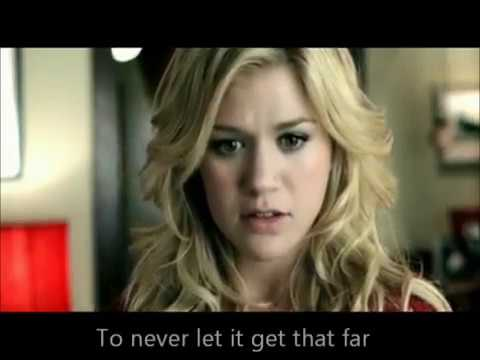 Because of You - Kelly Clarkson. Lyrics on Official Video ...