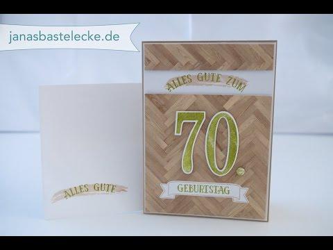 Kreativer Montag 98 - Maskuline Geburtstagskarte zum 70ten