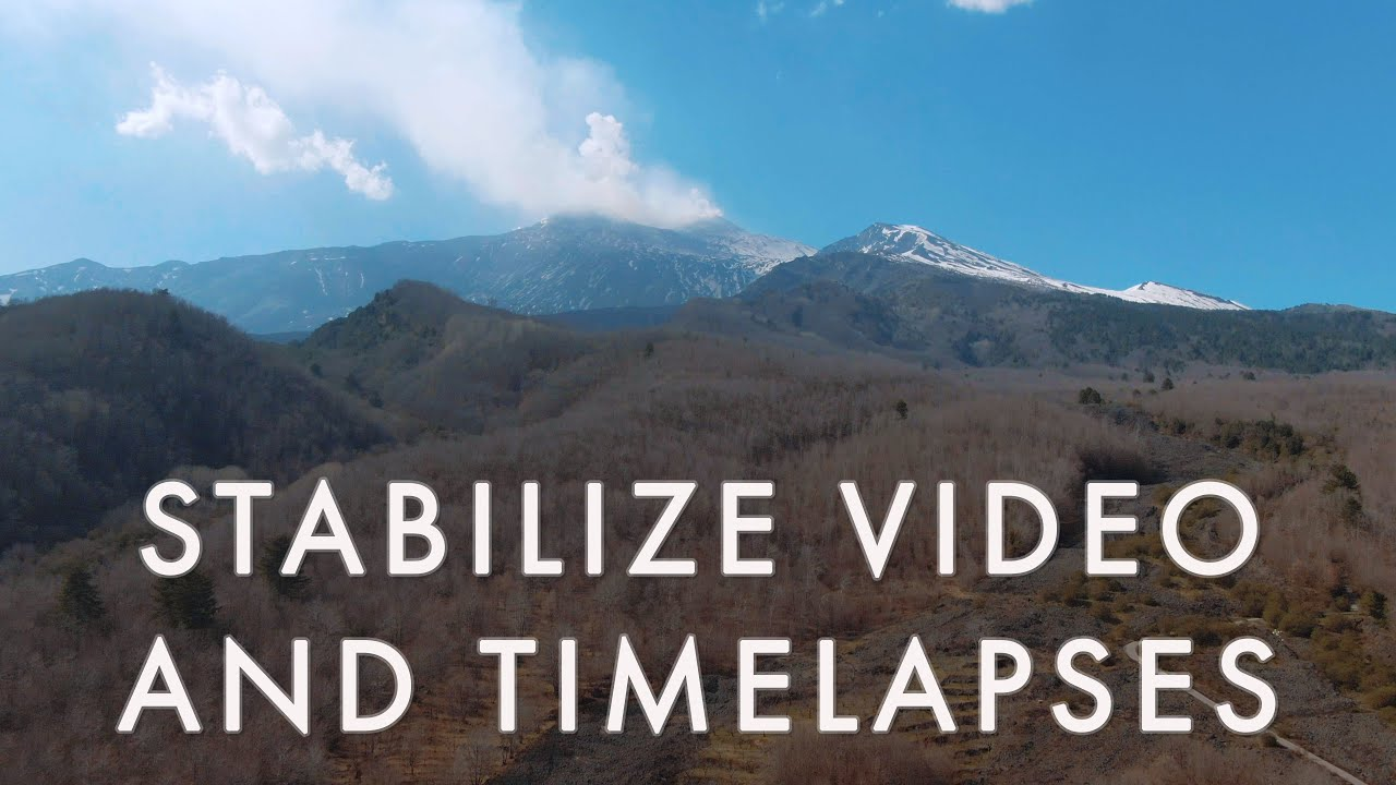 Stabilize drone footage with After Effects or Premiere Pro