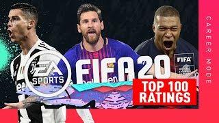 MBAPPE vs RONALDO vs MESSI!! OFFICIAL TOP 100 FIFA 20 RATINGS!!