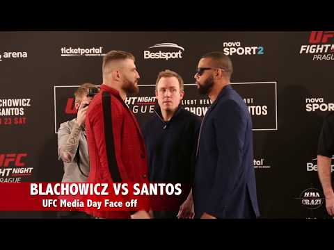 UFC Fight Night Prague Jan Blachowicz vs. Thiago Santos Media Day Face off