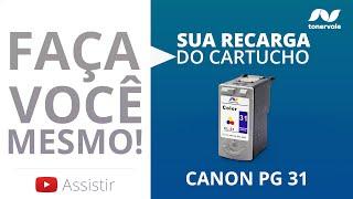 Recarga Expressa de Cartucho Canon PG 31 - MX-300 MX-310 MP-140 Color - Vídeo Aula Toner Vale