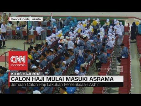 Jemaah Calon Haji Mulai Masuki Asrama Pondok Gede