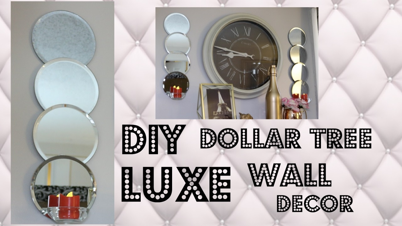 Diy dollar tree luxe wall decor 9 youtube for Bathroom decor dollar tree