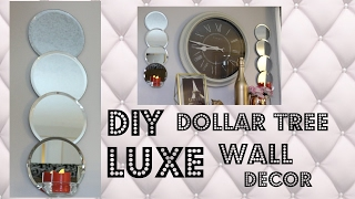 DIY DOLLAR TREE LUXE WALL DECOR $9