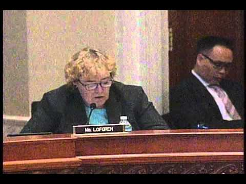 Rep. Zoe Lofgren's Q&A Session on SOPA at Library of Congress Oversight Hearing