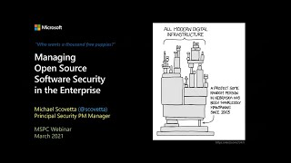 Security Community webinar: Managing open-source software security in the enterprise