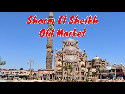 Sharm El Sheikh, Egypt 2019   Old Market - Street Footage 4K