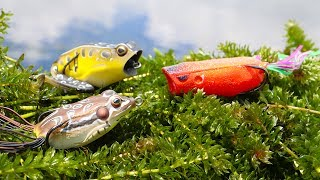 Fishing with Frogs DEEP In the Grass!! (Epic Blow Ups)