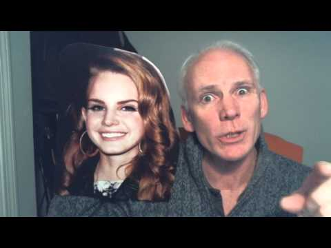 Old guy has a full channel dedicated to interviewing card board Lana Del Rey cutout