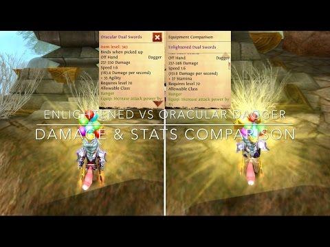 Oracular Vs Enlightened Dual Swords Damage Comparison | Order & Chaos Online