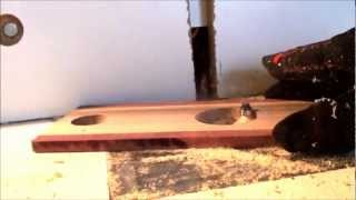 Routing Wine Glass Bottle Holders On Homemade Router Table