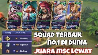 Inilah Squad Mobile Legends Terbaik Di Dunia Nomor 1 Obs Gaming FULL Team, Juara MSC IDNS Lewat Coy