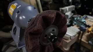 Scotchbrite buffing wheel with 80 micron diamond bar