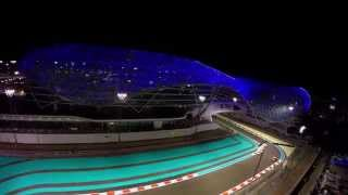 Abu Dhabi Yas Marina Circuit and Viceroy hotel with Drone