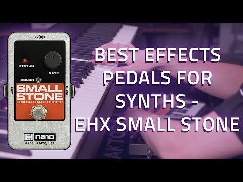 Electro Harmonix Nano Small Stone on a synth and keyboard