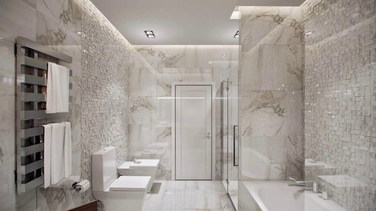 Diseño de baño de azulejos de mármol - YouTube