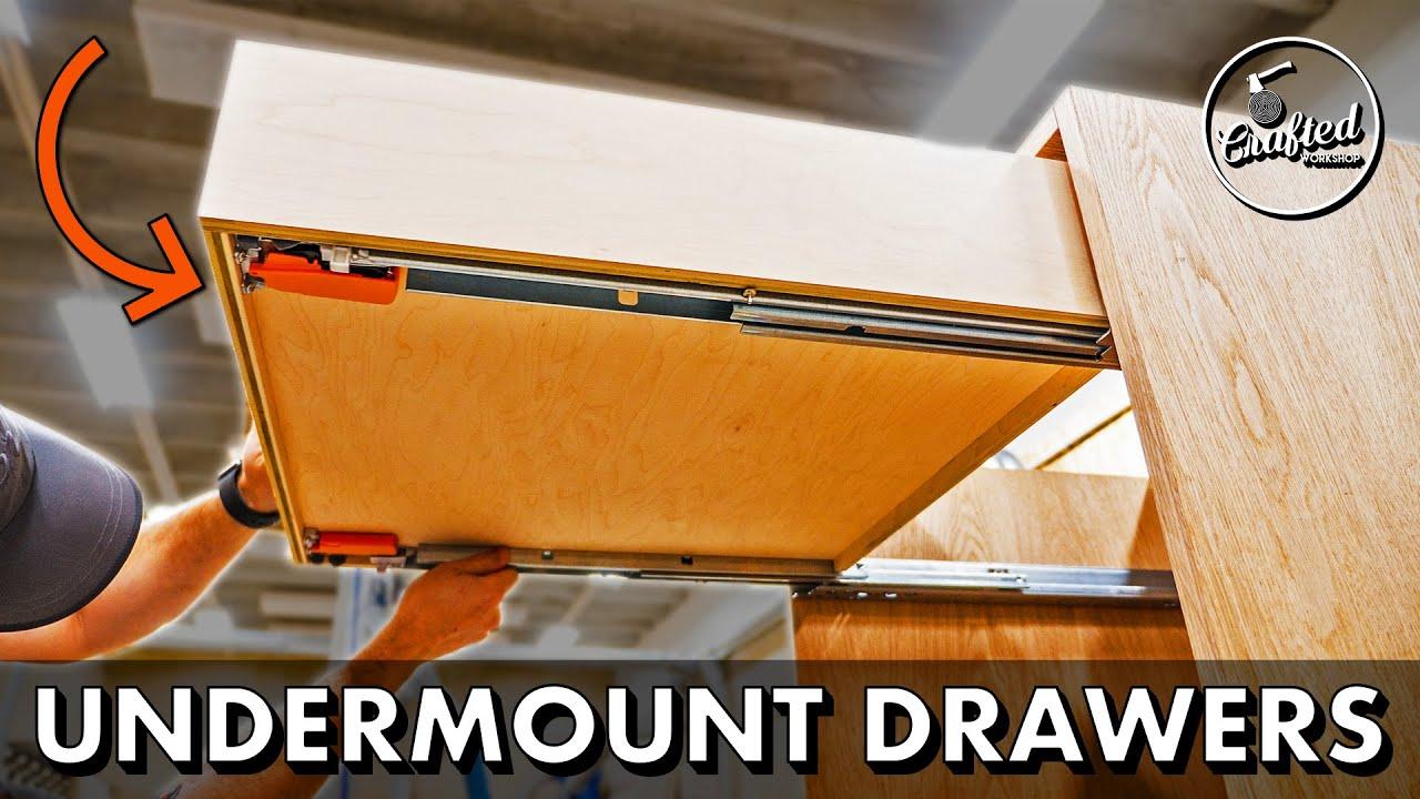 How To Make Easy Diy Drawers W Blum Undermount Slides Home Bar Pt 2