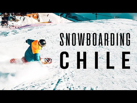 VALLE NEVADO - SANTIAGO, CHILE. Snowboarding In A Best Ski Resort In South America, Andes Mountains
