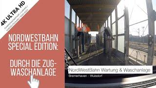 Cabview Train Wash / Zug Waschanlage / 4K / Ultra HD / UHD / Führerstandsmitfahrt / VBN