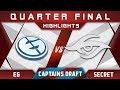 EG vs Secret Captains Draft 4.0 Minor 2018 Highlights Dota 2