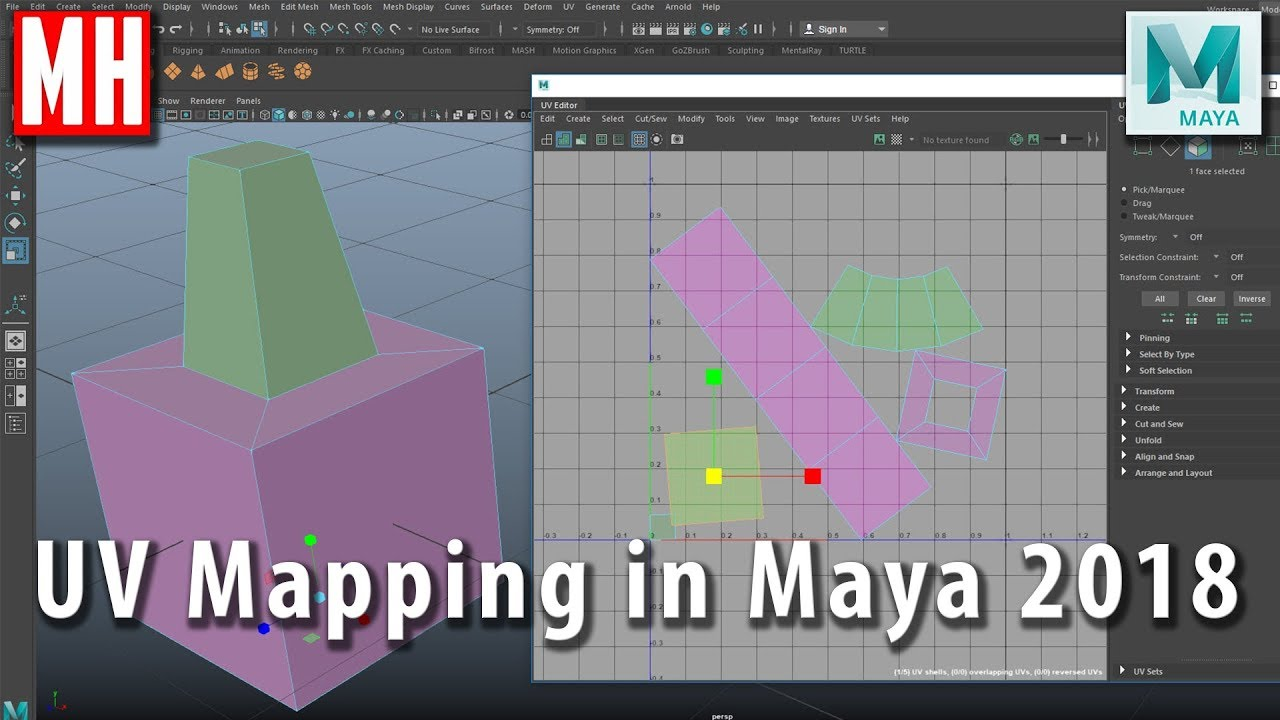 UV MAPPING your 3D MODEL in Autodesk Maya 2018