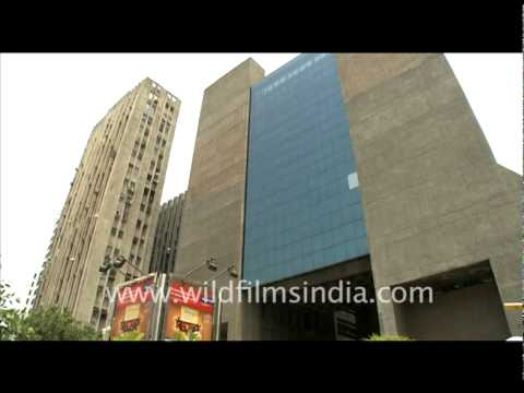Modern office buildings in New Delhi, India