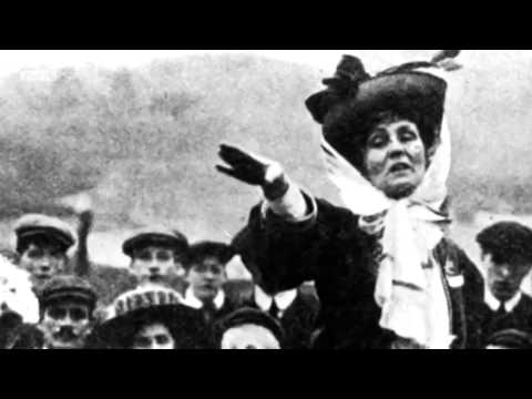 The suffragettes : Emmeline Pankhurst (1858 - 1928)