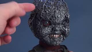 "It's on Etsy | Childs Play Custom Mezco 15"" Talking Burnt Chucky by DSCUSTOMSANDAPPAREL HORROR"