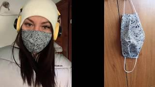 Многоразовая ЗАЩИТНАЯ МАСКА для лица Выкройка защитной маски для лица подробный пошив