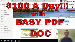 Make $100 a day online with pdf submissions. after you have product to promote, one way drive traffic your offer is submission sites. use fi...