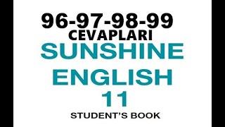 11. Sınıf İngilizce Sunshine Ders Kitabı Cevapları Sayfa 96-97-98-99