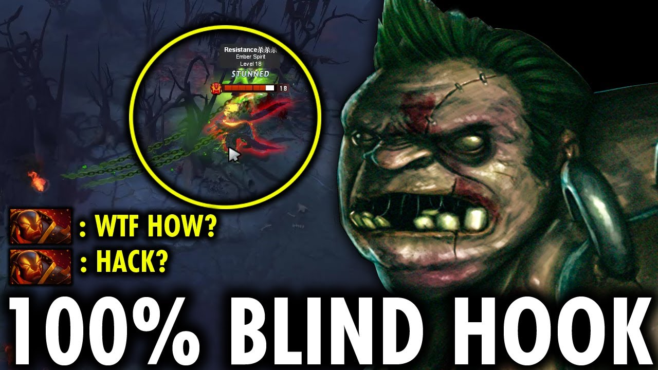 IS THIS MAP HACK? ETLENDO 100% BLIND HOOK BEST OF THE BEST HOOK IN 7.27 PATCH - GENIUS PUDGE