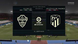 FIFA 21 - Elche CF VS Atletico Madrid - La Liga Match Prediction Gameplay