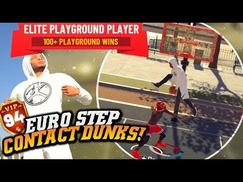 NBA 2K19 Park: Glitchy Euro Step Contact Dunks! Best Slasher?!? NBA 2K19 Park Gameplay