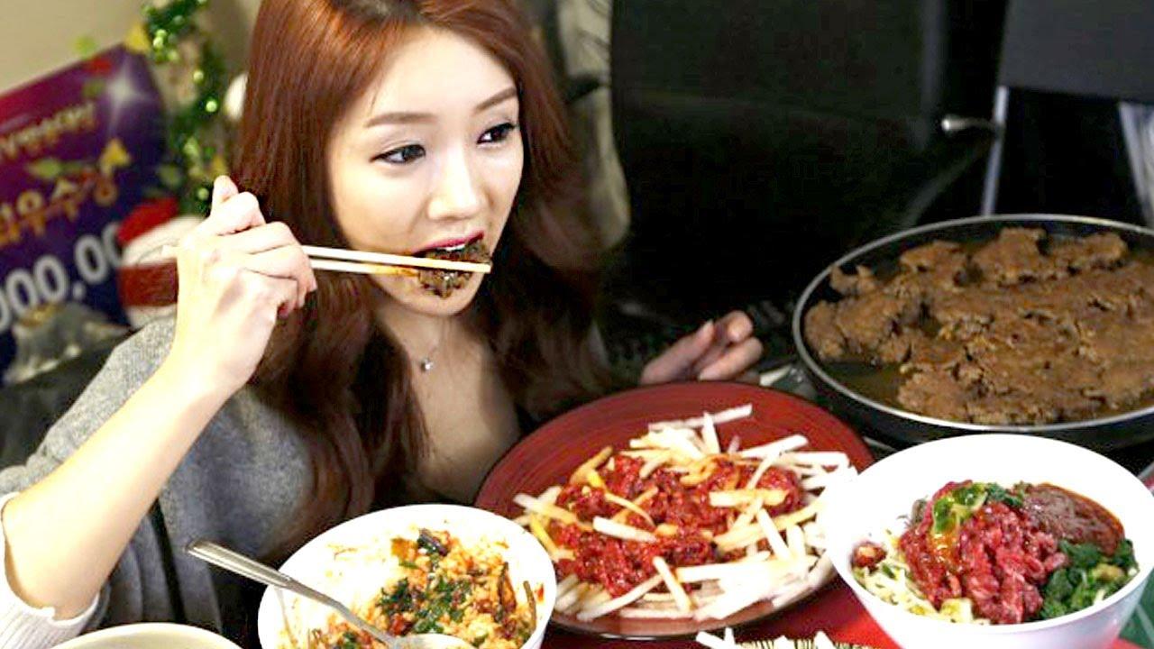 Image result for female model eating lots of food