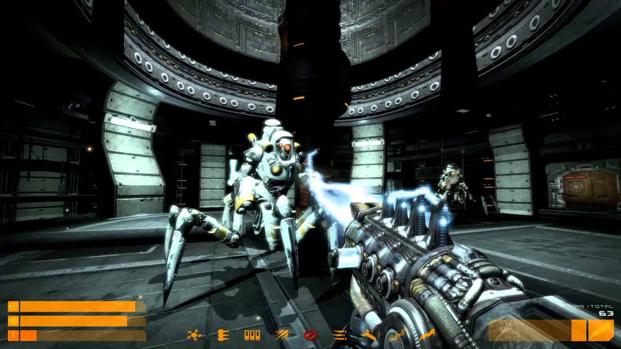 Quake 4 False Dawn Mod - 5/5 Weapon Chamber & Finale - Uncommented 1080p  60fps