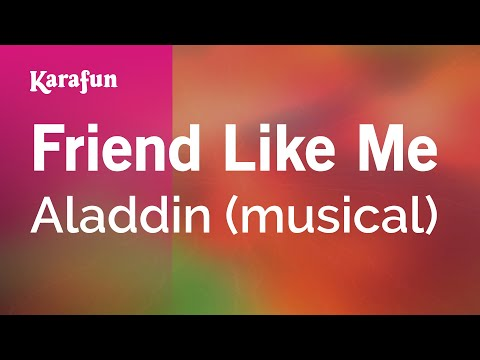 Karaoke Friend Like Me  Aladdin Musical *