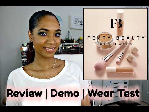 *NEW* FENTY BEAUTY Concealer | Foundation | Setting Powder 馃挃 Demo, Wear Test and REVIEW 鉂�