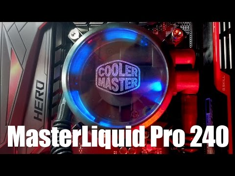 Enfriamiento liquido Cooler Master MasterLiquid Pro 240 unboxing, revisión e instalación.