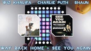 Gambar cover Wiz Khalifa , Charlie Puth , SHAUN - Way Back Again //Launchpad Cover + Project File