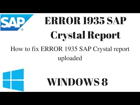 How to fix ERROR 1935 SAP Crystal report uploaded || SAP Crystal Error