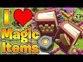 I LOVE MAGIC ITEMS! - TH7 GARCH Farming! - Push that Rush Ep.5 - Clash of Clans
