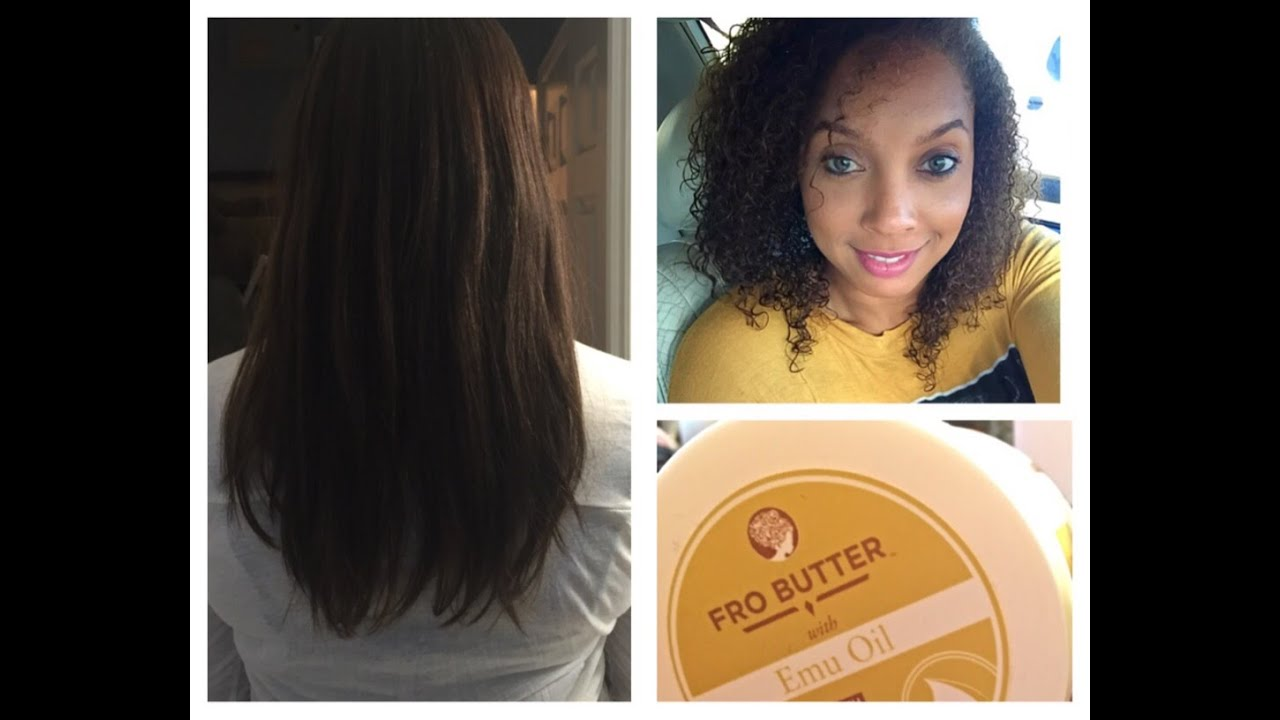 Straight To Curly Natural Hair Fro Butter Deva Curl Youtube