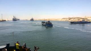 جولة الوفد المرافق لرئيس غرفة الملاحة البحرية العالمية  فى قناة السويس الجديدة