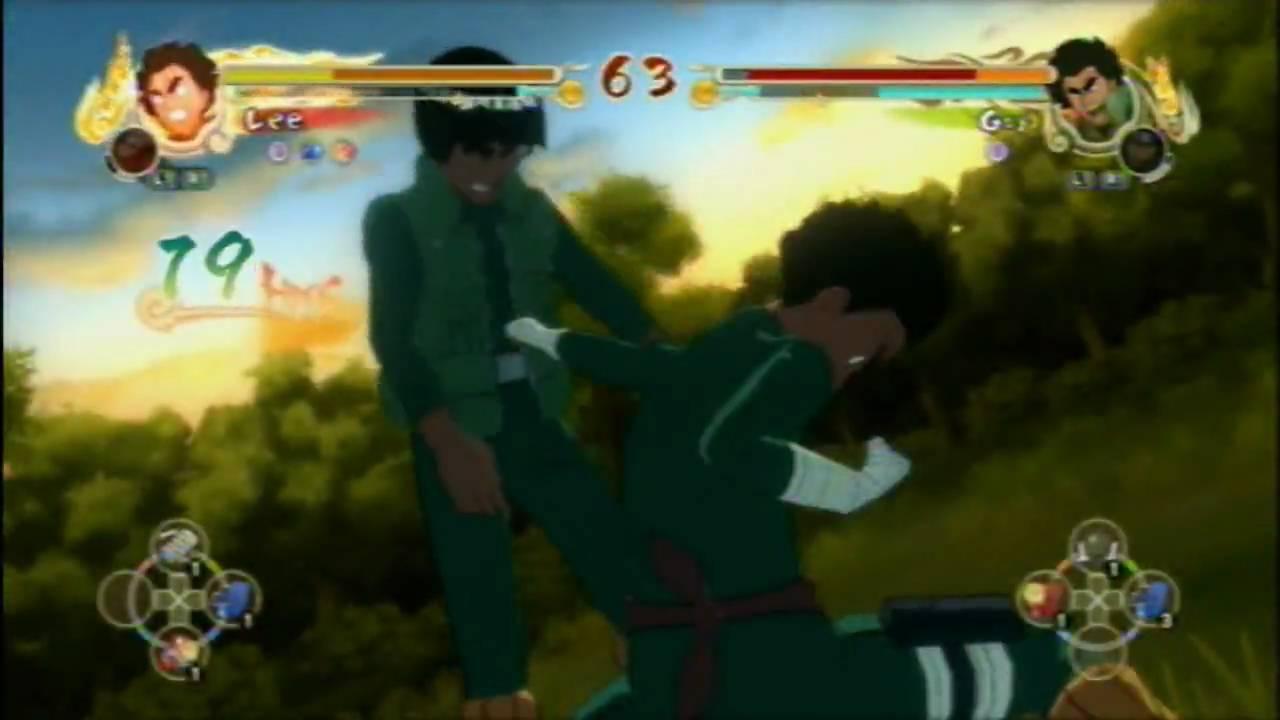 Naruto: Ultimate Ninja Storm - 8 Gates Rock Lee Vs 8 Gates ...