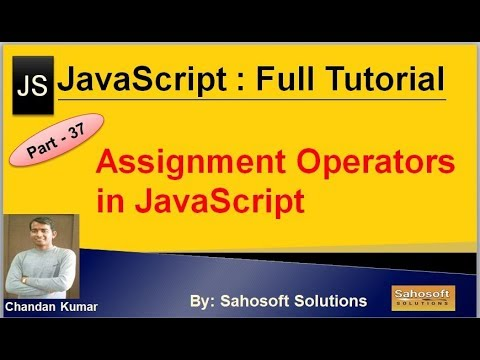 Assignment Operators in JavaScript  : Part - 37 : JavaScript Full Tutorial in Hindi thumbnail