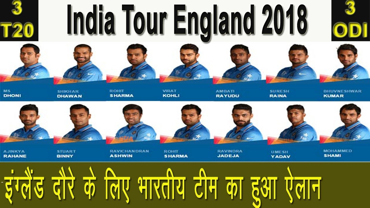 Indian Squad Of England Tour